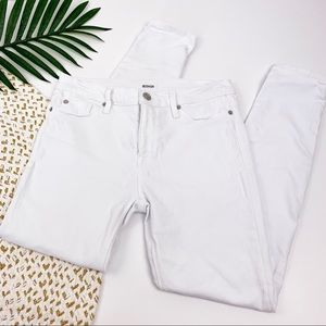 Hudson White Stretch Skinny Jeans